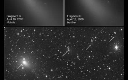 串串迷你彗星列隊接近地球