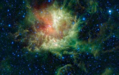 NGC281:食鬼獸星雲長了牙齒