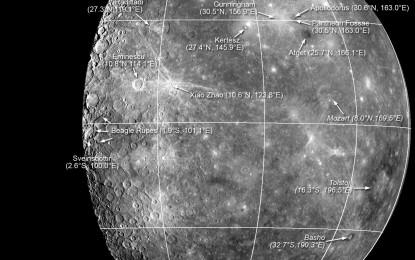 水星的地名