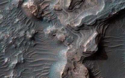 火星烏斯缽谷的沉積物