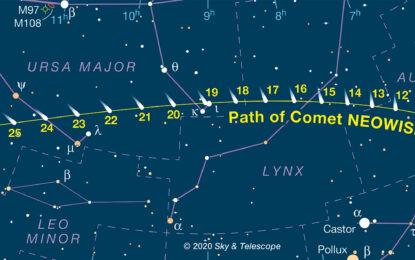 世紀彗星 NEOWISE突然出現